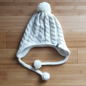 North Face Lined Cream Beanie